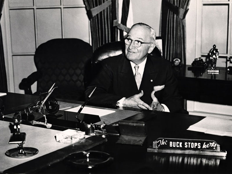 Harry Truman the Buck Stops Here